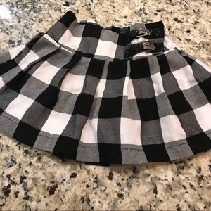 Justice Black & White Checkered Skirt & Paris Top